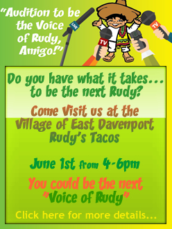 Visit Rudy's Events Page for more info...