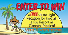 Free Vacation to Mexico... Winner to be posted soon!